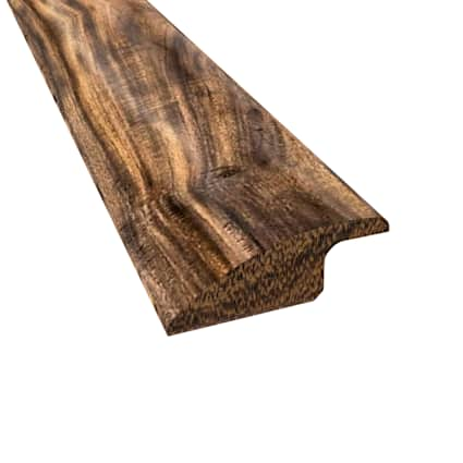 Prefinished Tobacco Road Hardwood 1/2 in thick x 2 in wide x 78 in Length Reducer