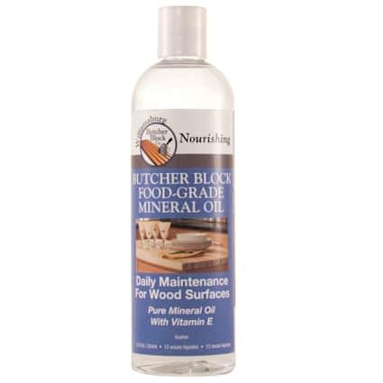 Butcher Block Food Grade Mineral Oil 12oz.