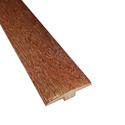 Prefinished Cherry Oak Hardwood 5/8 in thick x 2 in wide x 6.5 ft Length T-Molding