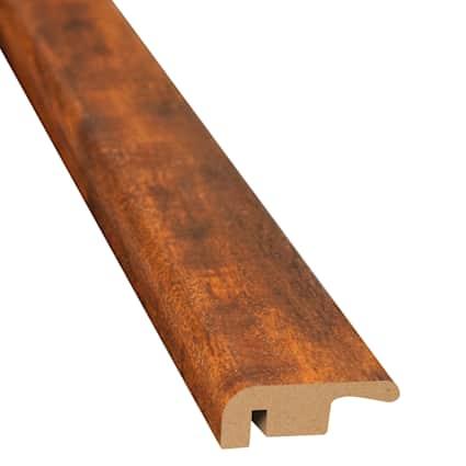 Bronzed Brazilian Teak Laminate 1.374 in wide x 7.5 ft Length End Cap