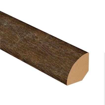 Copper Barrel Oak Vinyl 0.75 in wide x 7.5 ft length Quarter Round