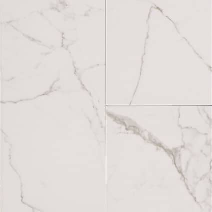 12 in. x 24 in. Bianca Carrara Porcelain Tile