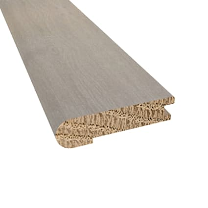 Prefinished Barcelona White Oak Hardwood 5/8 in thick x 2.75 in wide x 78 in Length Stair Nose