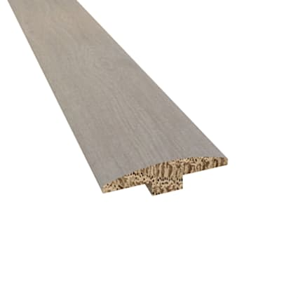 Prefinished Barcelona White Oak Hardwood 1/4 in thick x 2 in wide x 78 in Length T-Molding
