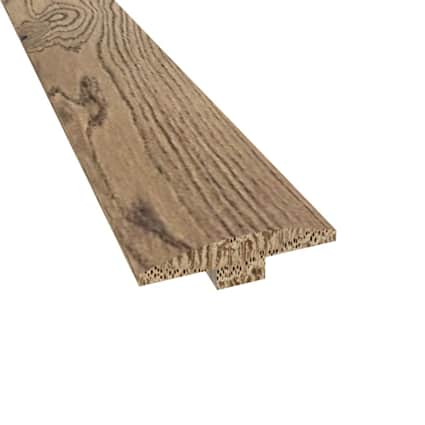 Prefinished Madrid White Oak Hardwood 1/4 in thick x 2 in wide x 78 in Length T-Molding