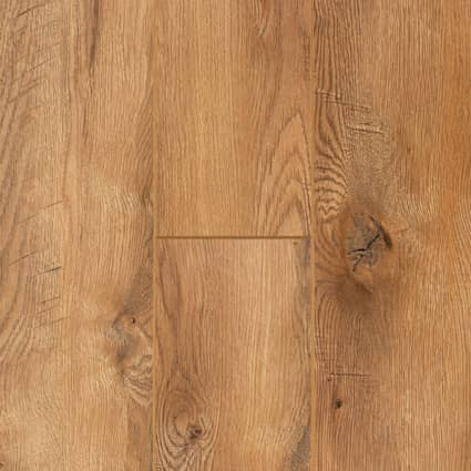 12mm Wheat Field Oak 24 Hour Water-Resistant Laminate Flooring 7.56 in. Wide x 50.63 in. Long