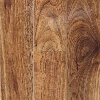 10mm Honey Walnut High Gloss Laminate Flooring 6.26 in. Wide x 54.45 in. Long