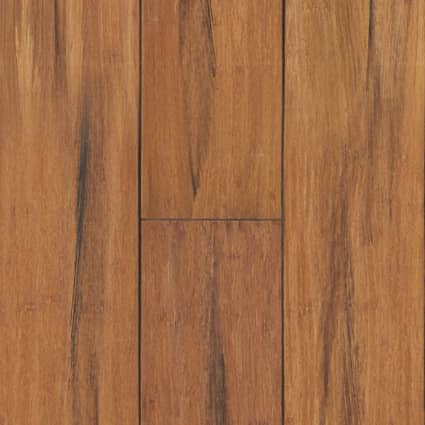3/8 in. Raleigh Strand Distressed Wide Plank Engineered Click Bamboo Flooring 5.13 in. Wide