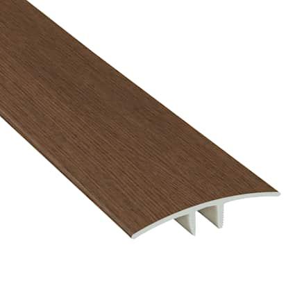 Tacoma Oak Laminate Waterproof 1.75 in wide x 7.5 ft Length Low Profile T-Molding