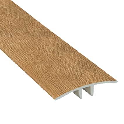 Wheat Field Oak Laminate Waterproof 1.75 in wide x 7.5 ft Length Low Profile T-Molding