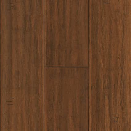 3/8 in. Bismark Strand Distressed Wide Plank Engineered Click Bamboo Flooring 5.13 in. Wide