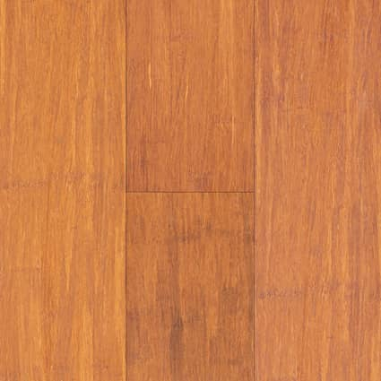 3/8 in.Carbonized Strand Smooth Wide Plank Engineered Click Bamboo Flooring 5.13 in. Wide