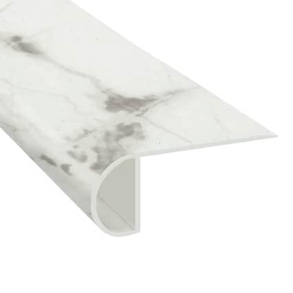 De Milo Marble Vinyl Waterproof 2.25 in wide x 7.5 ft Length Low Profile Stair Nose