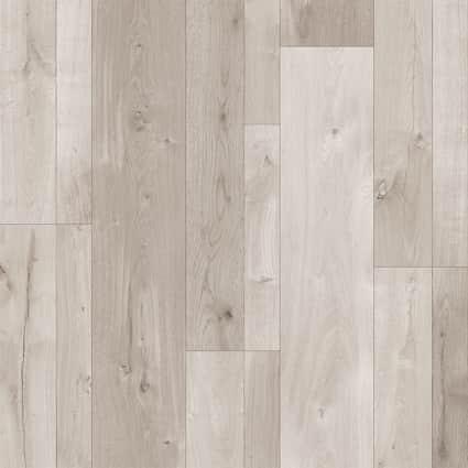 10mm+pad Urban Frost Oak Laminate Flooring 7.6 in. Wide x 54.45 in. Long