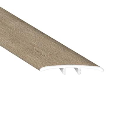 Chapel Bridge Oak Laminate Waterproof 2.26 in wide x 7.5 ft Length Low Profile T-Molding