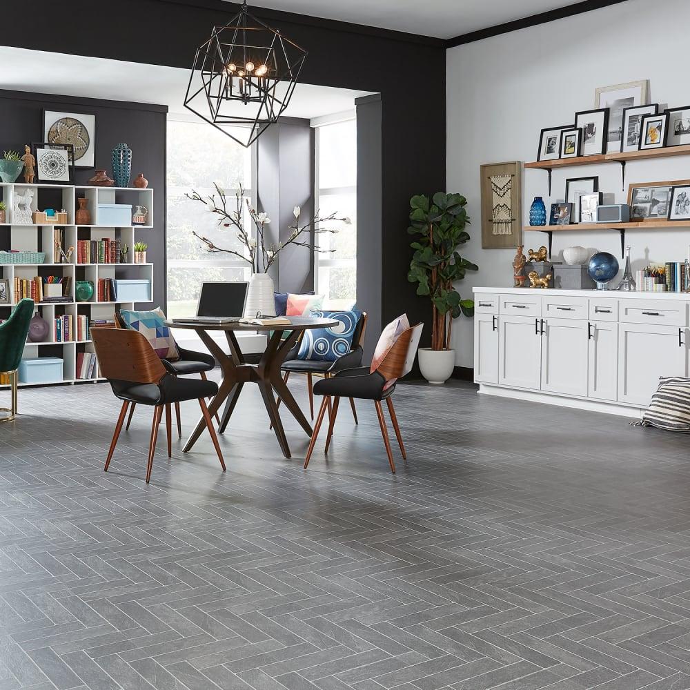 Aquaseal 8mm Burgess Gray Brick 24 Hour, Waterproof Laminate Flooring B&Q