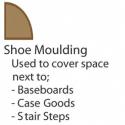 """9/16"""" x 3/4"""" x 8' PFJ White Primed Shoe Molding"""