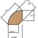drawing for laminate quarter round