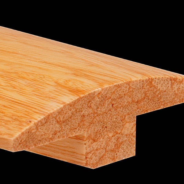 Prefinished Natural Strand Distressed Bamboo 0.625 in thick x 1.875 in wide x 6 ft Length T-Molding