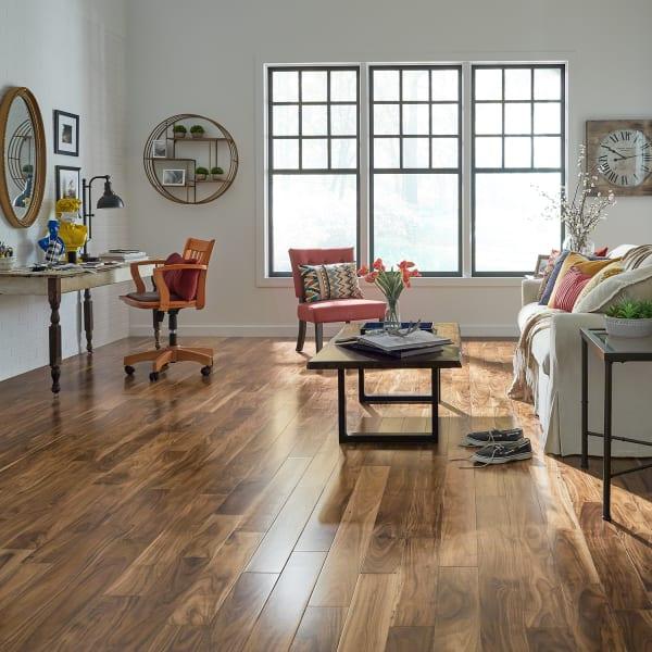 7/16 in. x 4.75 in. Acacia Quick Click Engineered Hardwood Flooring