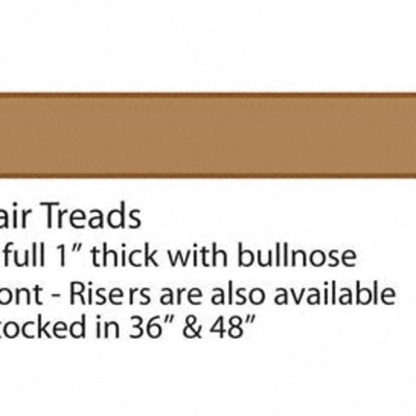 Unfinished Builder Grade Red Oak Solid Hardwood 36 in Length Tread