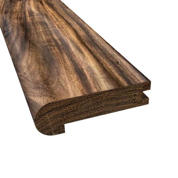 Prefinished Tobacco Road Hardwood 3/4 in thick x 3.5 in wide x 6.5 ft Length Stair Nose