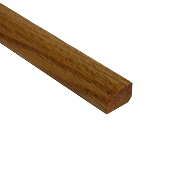 Prefinished Red Oak Hardwood 1/2 in thick x .75 in wide x 6.5 ft Length Shoe Molding