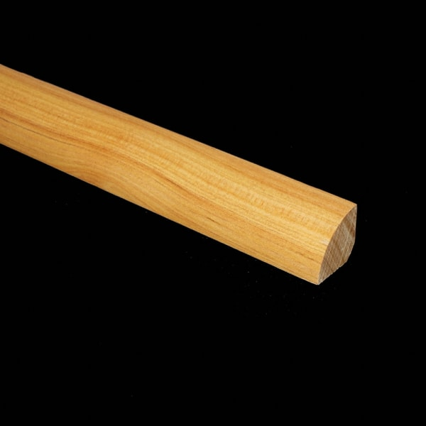 m Details Prefinished Australian Cypress Hardwood 3/4 in thick x .75 in wide x 78 in Length Quarter Round
