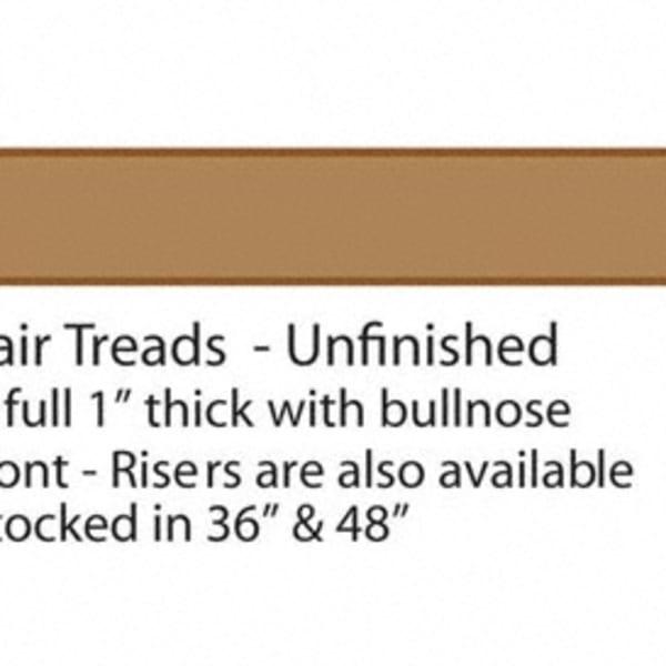 "36"" White Oak Stair Tread"