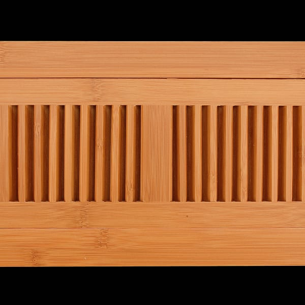 """4"""" x 10"""" Drop In PR Bamboo Vent Grill"""