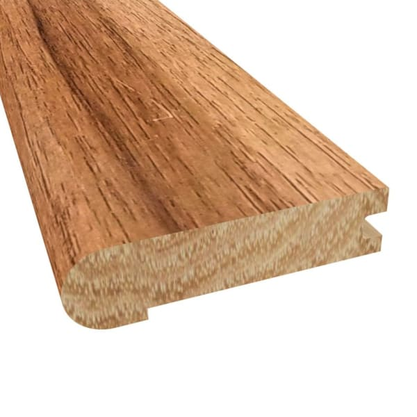 Prefinished Walnut Hickory Hardwood 3/4 in thick x 2.75 in wide x 6.5 ft Length Stair Nose