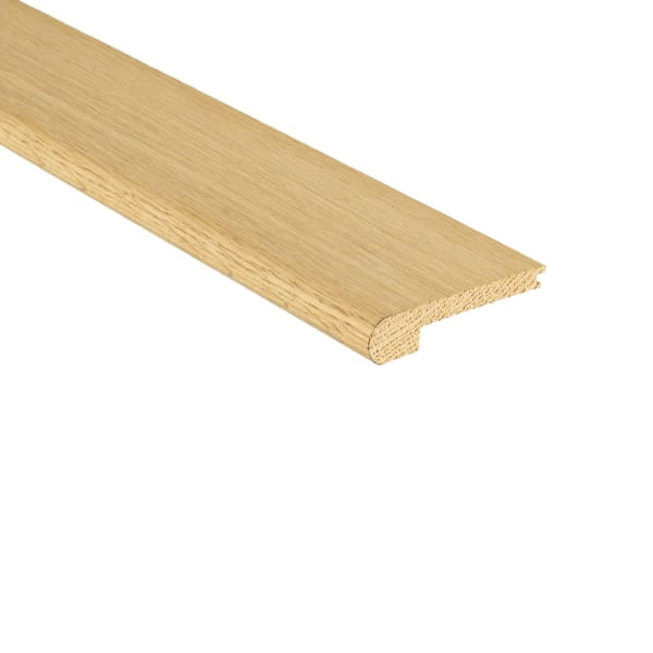 Unfinished Red Oak Hardwood Stair Nose 3/8 in thick x 3.5 in wide x 8 ft Length