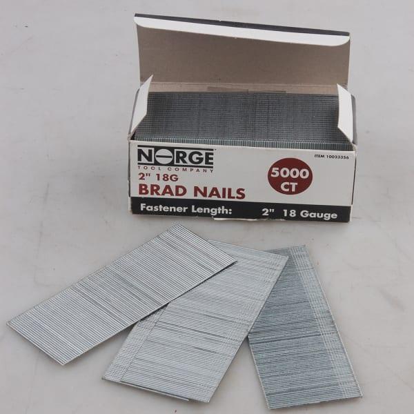 """2"""" 18ga. Heavy Duty Brad Nails 5000-Count"""