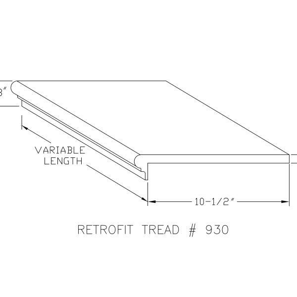 Drawing retrofit tread 930