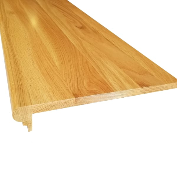 Prefinished White Oak Solid Hardwood 5/8 in thick x 11.5 in wide x 36 in Length Retro Fit Tread