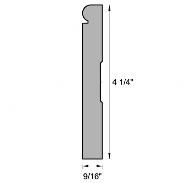 """White Molding and Trim Baseboard 4-1/4"""""""