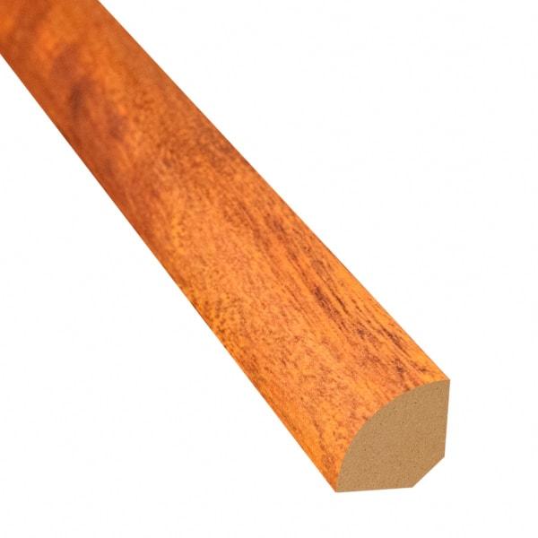 Bronzed Brazilian Teak Laminate 1.075 in wide x 7.5 ft Length Quarter Round