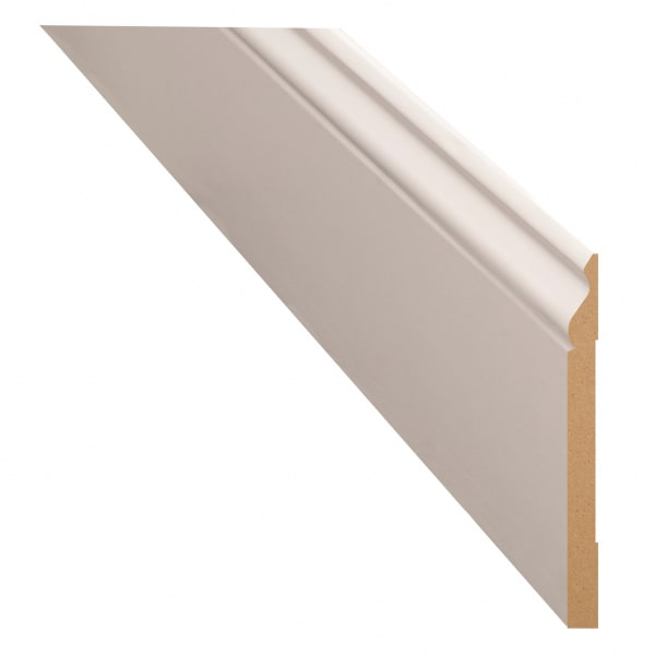 """White Painted Colonial Baseboard 1/2"""" x 5-1/4"""" x 8'"""