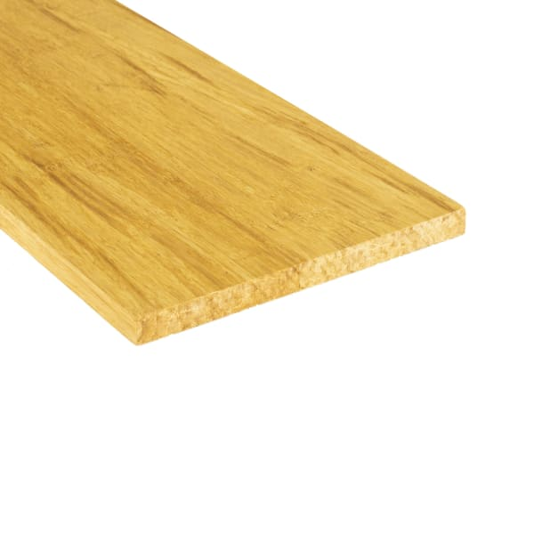 Prefinished Natural Strand Bamboo 5/8 in thick x 7.5 in wide x 48 in Length Retro Fit Riser