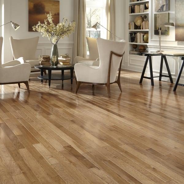 3/4 in. x 3.25 in. Walnut Hickory Solid Hardwood Flooring
