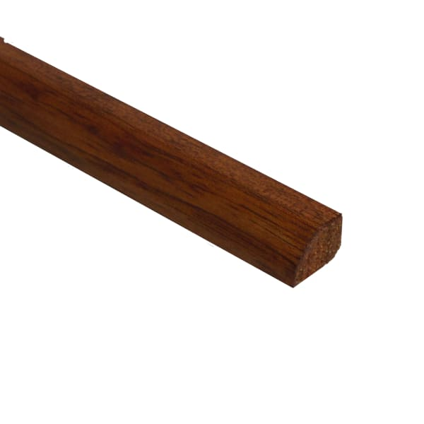 Prefinished Copper Hevea Hardwood 1/2 in thick x .75 in wide x 78 in Length Shoe Molding