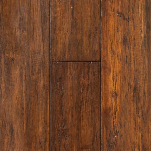 Roasted Almond Strand Distressed Click Engineered Bamboo Flooring