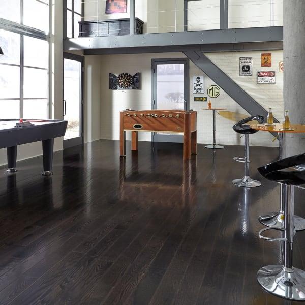 Espresso Oak Solid Hardwood Flooring in Entryway