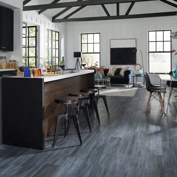 Coreluxe 5mm W Pad Paris Blue Pine, Blue Laminate Flooring