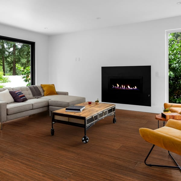 Bismark Strand Solid Bamboo Flooring in Living Room and Bedroom
