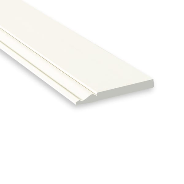 White Molding WM163EP MDF Painted 9/16 x 5-1/4 x 12 ft Baseboard