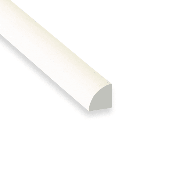 White Molding WM106 Painted MDF 11/16 in x 11/16 in x 8 ft Quarter Round