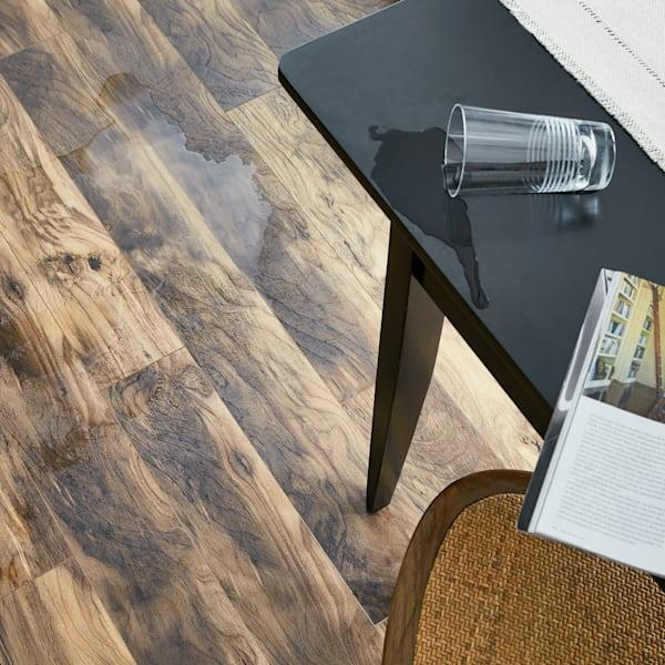 12mm+pad Natural Hackberry 24 Hour Water-Resistant Laminate Flooring
