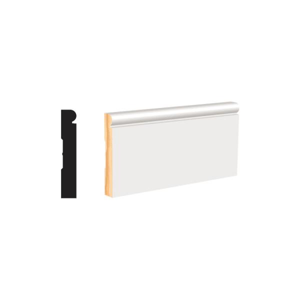 "White Molding Wood Baseboard 3-1/4"""