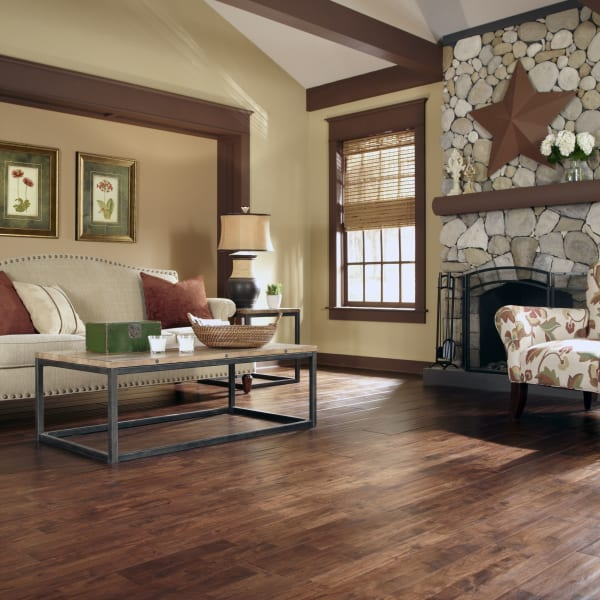11/16 in. x 8 in. Burnished Acacia Distressed Solid Hardwood Flooring